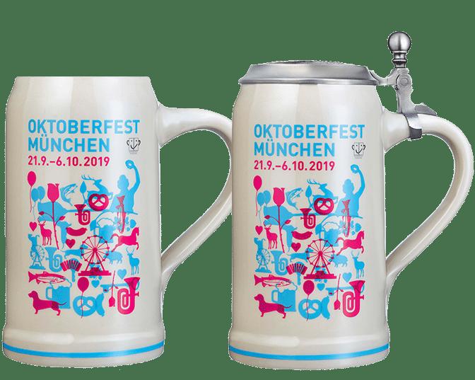 Souvenirs Hacker-Festzelt - Oktoberfestkrug 2019